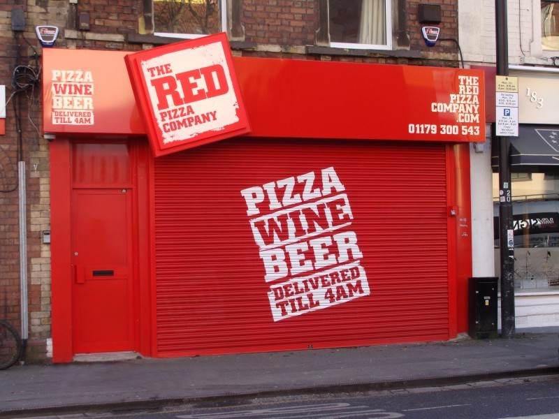 The Red Pizza Company Storefront designs