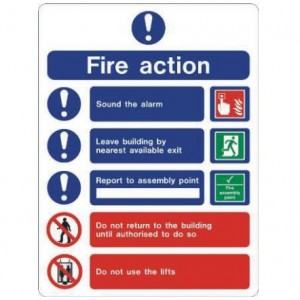 Fire Action Guide Sign