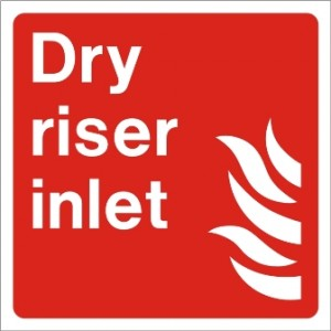 Dry riser inlet sign