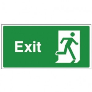 exit signage going to right side