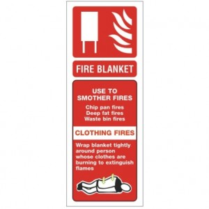 Fire Blanket Alarm sign