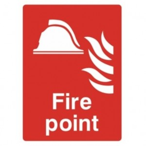 Fire point alarm sign